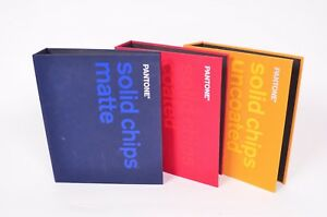 Pantone Solid Chips 3 Three book Set Coated Uncoated Matte Pantone Ring Books