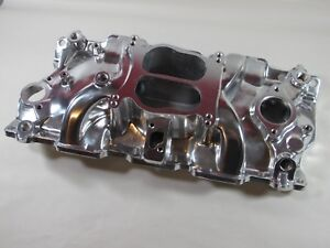 E force 82000 Sbc Chevy 57 95 non Egr Dual Plane Intake Manifold Polished