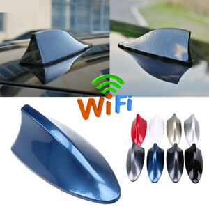 Universal Car Shark Fin Roof Antenna Radio Fm Am Decorate Aerial For Bmw Vw Blue