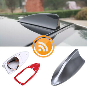 Grey Car Auto Shark Fin Universal Roof Antenna Radio Fm Am Decorate Aerial