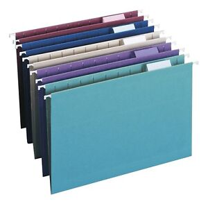 Smead Hanging File Folder 1 5 cut Adjustable Tab Legal Size Assorted Colors