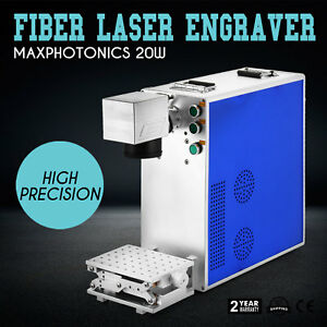 20w Fiber Laser Marking Machine Engraver Engraving Maker 110x110mm High Speed