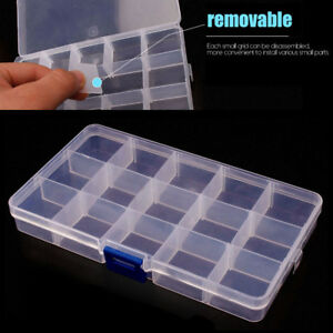 15 Grid Slots Storage Box Case For Jewelry Parts Electronic Components Storage
