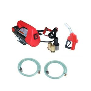 12v Diesel Transfer Pump Portable Electric Fuel Oil Extractor Station 40l min