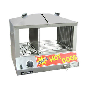 Adcraft Hds 1200w Side By Side Hot Dog Bun Steamer Quick Ship Overstock