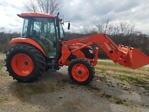 2011 Kubota M7040 4wd Tractor W loader Low Hours Very Clean