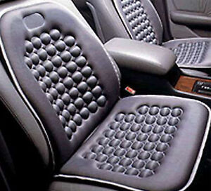 Black Magnetic Therapy Massage Car Seat Cushion Set Of 2
