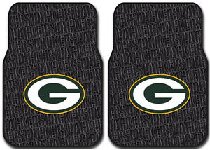2pc Green Bay Packers Front Rubber Car Floor Mats Car Truck Auto