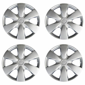 New 4 Pcs Silver 15 Hub Caps Wheel Cover Set Toyota Yaris 2007 2008 Style 1008