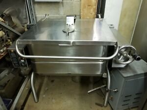 Groen Commercial Stainless Steel Electric gas Tilt Skillet braising Pan 30 Gal