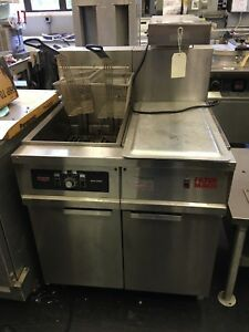 Used Frymaster Fh14sd 50 Lb Fryer With Holding warming Station