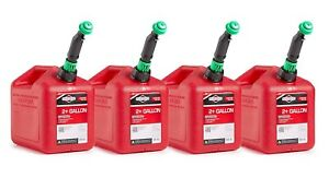 Briggs Stratton 86023 Smart fill 2 Gallon Gas Cans 4 Pack