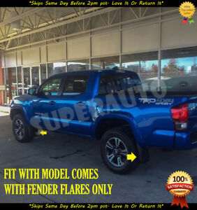 For 2016 2018 Toyota Tacoma 4pcs Mud Flaps Guards Splash Rear front W Fender