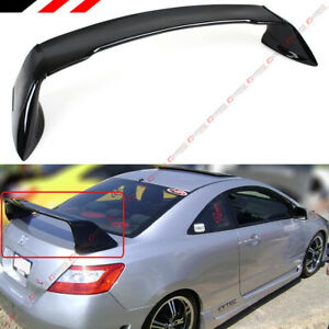 For 06 11 8th Gen Honda Civic 2dr Coupe Glossy Black Mug Rr Style Trunk Spoiler