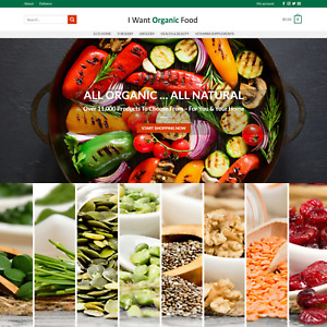 Organic Goods Online Dropship Ecommerce Website Business For Sale 11 000 Product