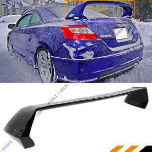 For 06 11 8th Gen Honda Civic 2 Door Coupe Painted Blk Rr Style Trunk Spoiler