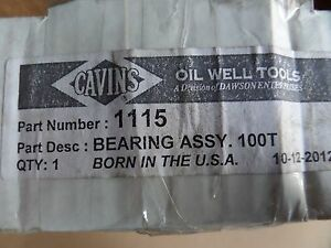 Cavins Oil Well Tools Bearing Assy 100t Part 1115