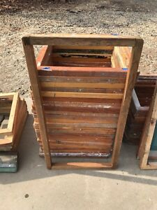 Lot Of 46 Assorted Heavy Duty Wooden Silk Screen Printing Frames one With Mesh
