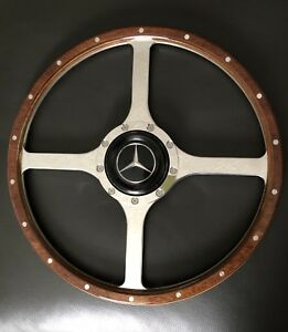 15 Classic Mercedes Benz Wood Steering Wheel Great For Office Wall Display