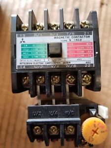 Mitsubishi Magnetic Contactor Type S a12rm 100v Coil With Overload