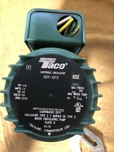 Taco 009 sf5 Hot Water Circulator Pump Ss 1 8 Hp