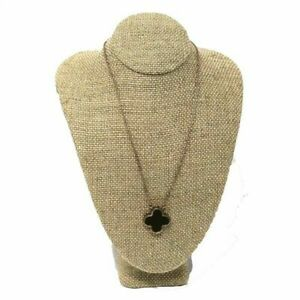 Linen Necklace Display Bust Burlap Neckform Display Jewelry Stand 7 1 2 Tall