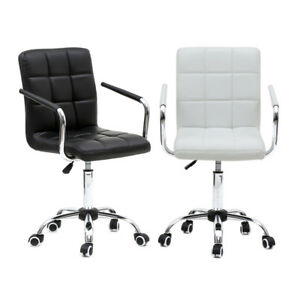 Executive Pu Leather Office Mid back Ergonomic Computer Desk Seat Swivel Chair