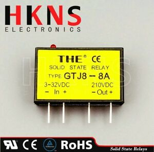 Lot Of 10 Gtj8 8a Mini Solid State Relay Ssr Dc To Dc Crydom Ssr Tuv Rohs The