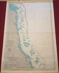 Nautical Chart Used In Sailing Expedition Australia Frankland To Lizard Island
