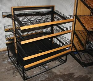 48 X 48 X 55 Bakery Store Display Rack 6 Wire Shelves