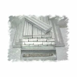 100 Silver Cotton Filled Jewelry Gift Box 8 X 2 X 1 h Watch Bracelet Holder