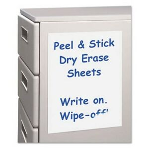 C line Peel And Stick Dry Erase Sheets 17 X 24 White 15 Sheets cli57724