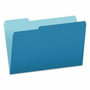 Pendaflex 2 tone File Folders 1 3 Tab Legal Blue 100 Per Box pfx15313blu