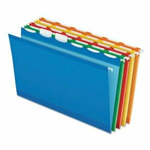 Pendaflex Lift Tab Hanging Folders 1 5 Tab Legal Assorted 25 box pfx42593