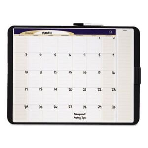 Quartet Tack And Write Monthly Calendar Board 17 X 23 Black qrtct2317