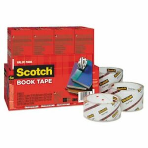Scotch Book Repair Tape 8 roll Multi pack 15 yard Rolls 3 Core mmm845vp