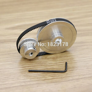 Htd5m 60t 30t Belt Width 10mm Timing Pulley Belt Set Kit Reduction Ratio 2 1 Cnc
