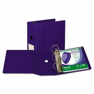 Samsill Locking Ring Binder 11 X 8 1 2 5 Capacity Blue sam16302