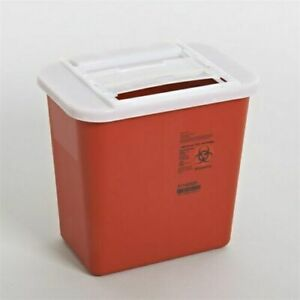 2 Gallon Sharp Needle Disposal Container Lid Tattoo Sharps Lot Of 10