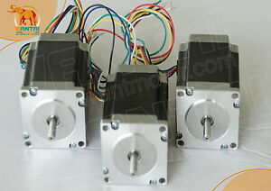 3pcs Nema 23 For 185 Oz in 3d Cnc Wantai Stepper Motor 2 0a Mill Cut 57bygh420