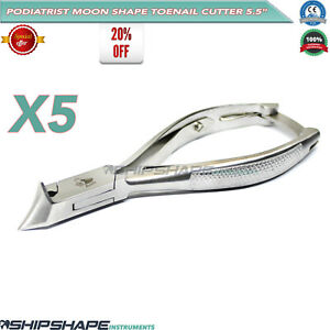 5moon shape Toe Nail Cutter Extra Thick Steel Nail Nipper Professional Chiropody