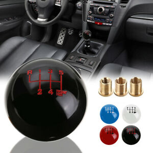 Black 6 Speed Round Ball Gear Shift Knob Short Throw Lever M10x1 25 Thread