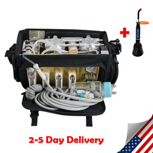 Usa Portable Dental Turbine Unit 4h Air Compressor Suction 3 Way Syringe gift