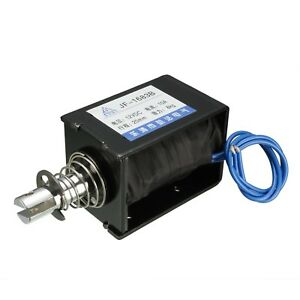 Dc 12v 10a 6w 80n 20mm Pull Push Type Linear Motion Solenoid Electromagnet