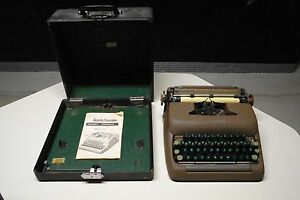 Smith Corona Typewriter Silent Super 5 Made In Usa Vintage Antique 1949 1958