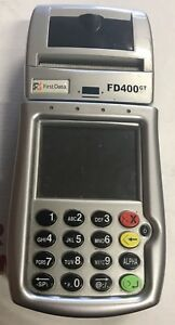 First Data Fd 400gt Gprs Wireless Terminal For Parts Read Free Shipping