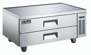 New Xiltek 52 2 Drawer Stainless Steel Refrigerated Chef Base