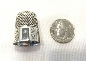 Sterling Silver Thimble Size 9 Simon Bros Co Sewing Crafts 2036