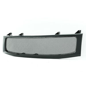 For 2004 2007 Nissan Titan Grille Front Hood Full Replacement Black Ss Wire Mesh