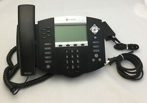 Polycom Soundpoint Ip 650 Sip Voip Business Phone 2201 12630 001 Internet Tested